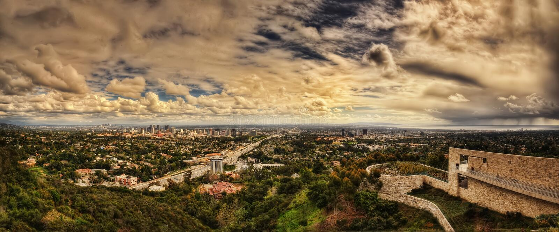 Getty Los Angeles royalty-vrije stock foto's