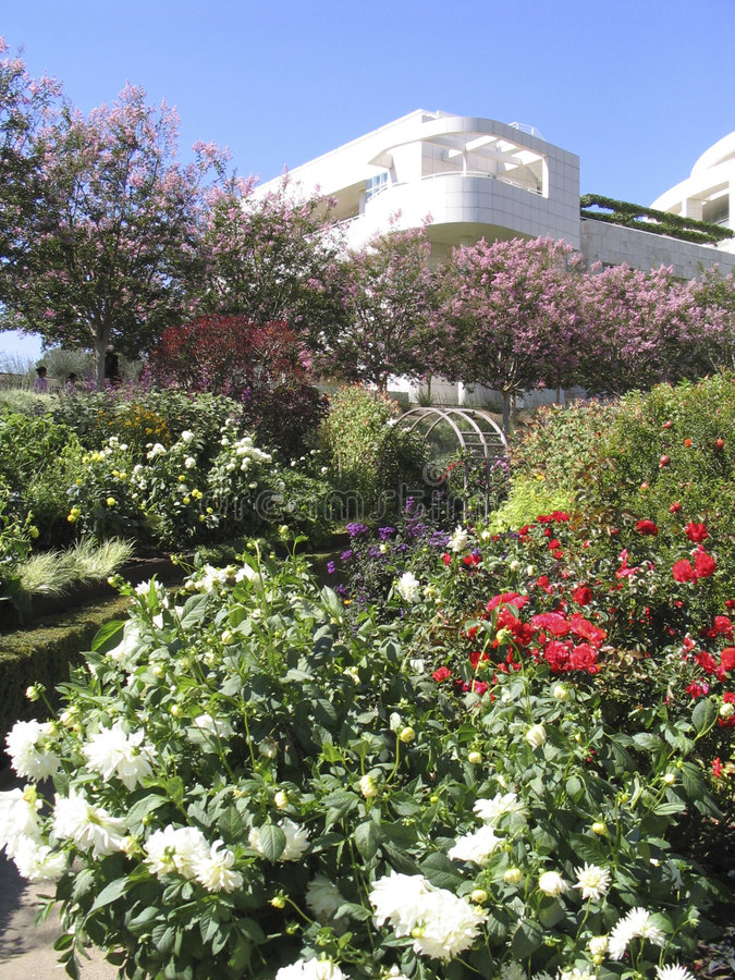 The Getty Museum Gardens stock photo