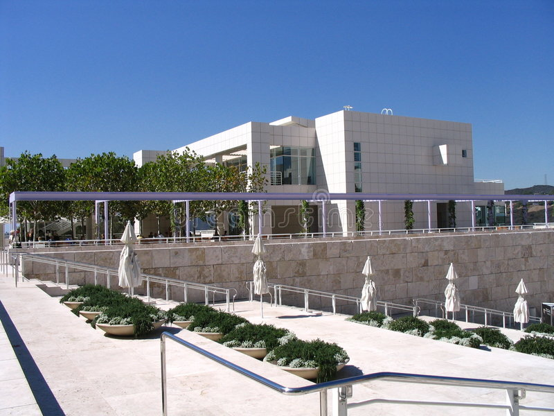 Getty Museum Gardens - Los Angeles royalty free stock photo