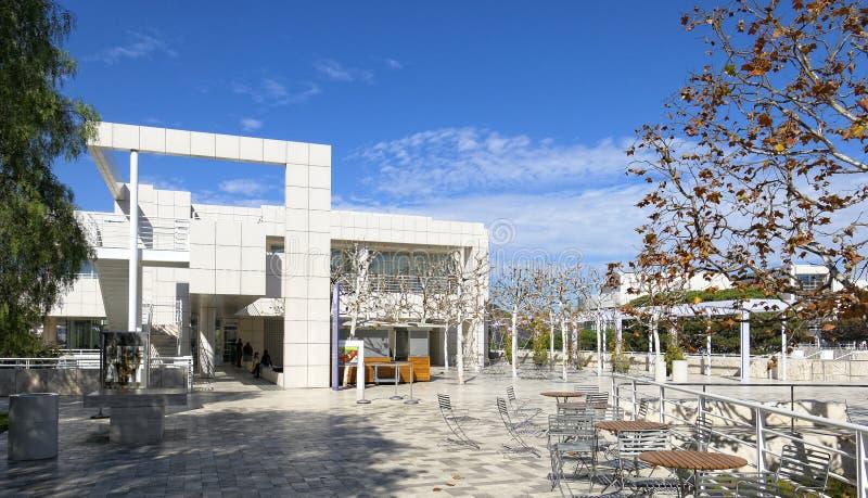 Getty museum i Los Angeles royaltyfri foto