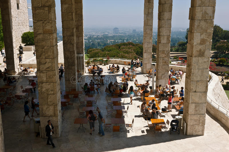 Download Getty Museum Patio editorial stock photo. Image of travertine - 20464293
