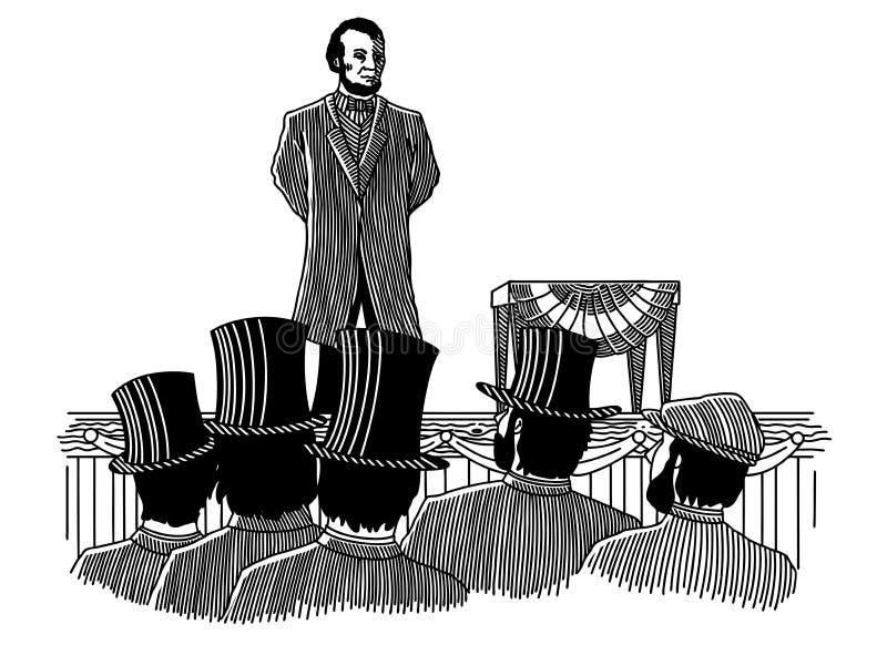Gettysburg-adres vector illustratie