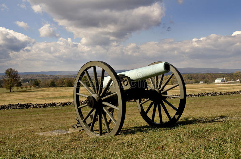 Gettysburg Canon foto de stock