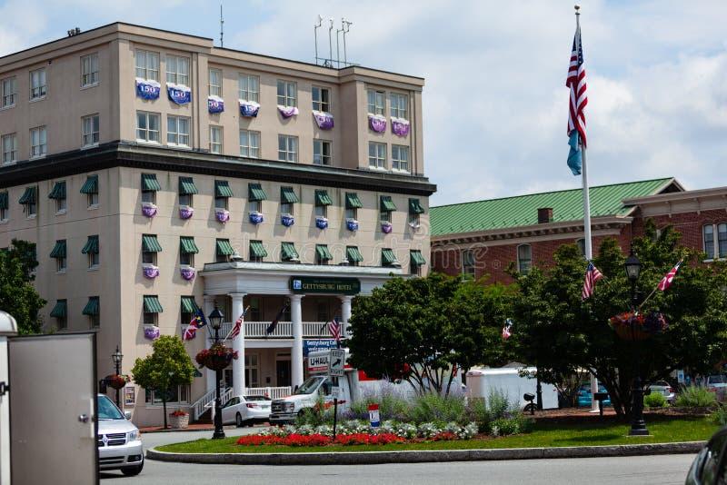 Gettysburg hotell fotografering för bildbyråer