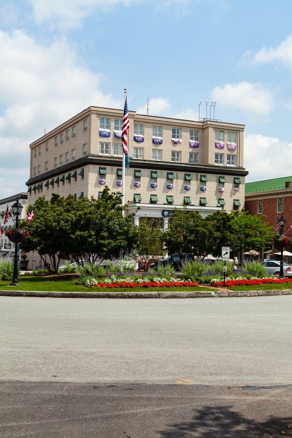 Gettysburg hotell på fyrkanten royaltyfria bilder