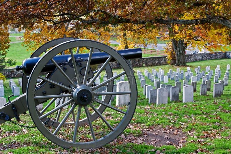 Gettysburg i höst fotografering för bildbyråer