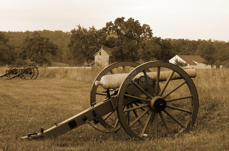 Gettysburg kanoner royaltyfri fotografi