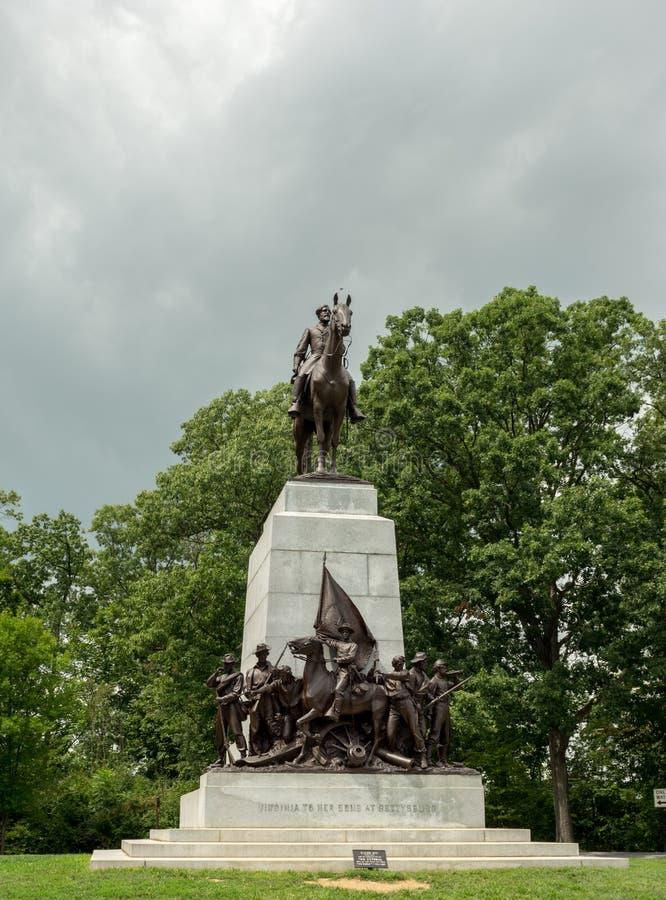 Gettysburg Krajowy pole bitwy Virginia Gromadzi się zabytek obrazy stock