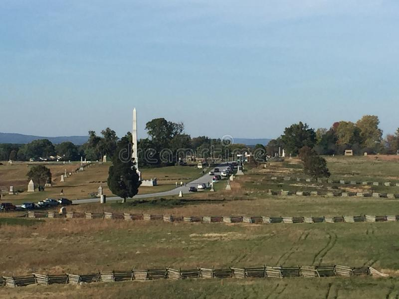 gettysburg royaltyfria foton