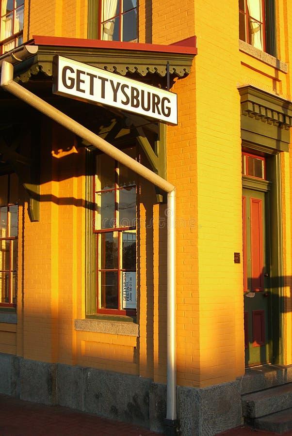Gettysburg Lincoln linii kolejowej stacja fotografia royalty free