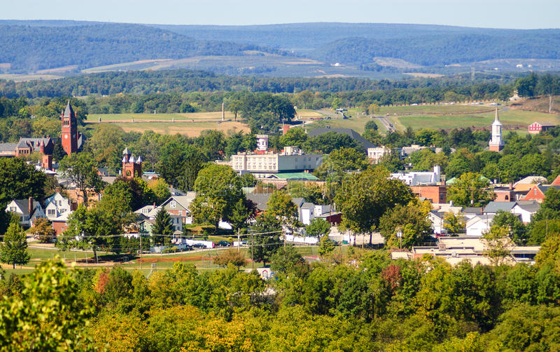Gettysburg nationell militär Park royaltyfria foton