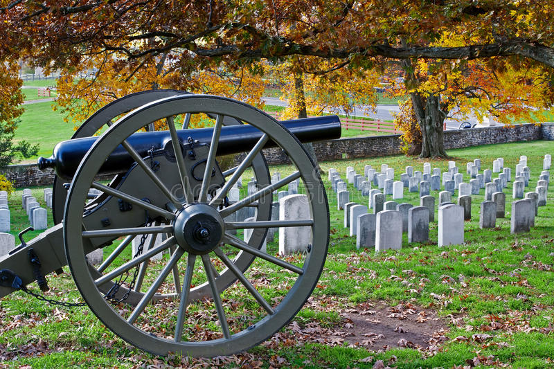 Gettysburg no outono imagem de stock