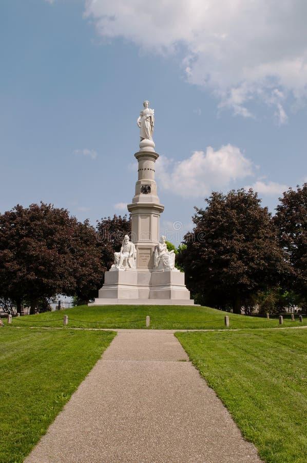GETTYSBURG PENNSYLVANIA 5-15-2018 den nationella monumentet för soldater royaltyfria bilder