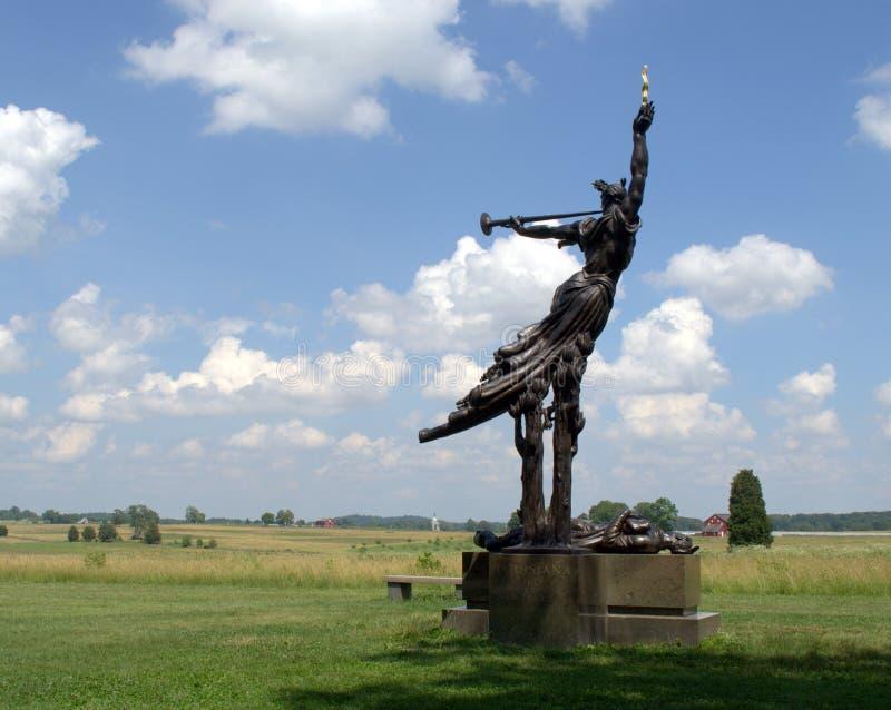 Gettysburg pola bitwy zabytek obraz royalty free
