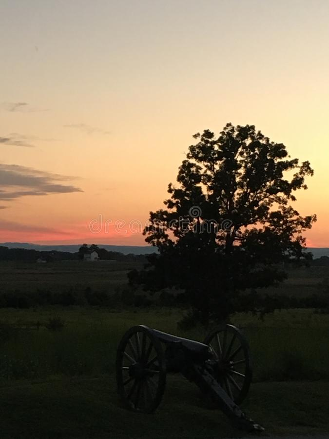 Gettysburg pole bitwy zdjęcie royalty free
