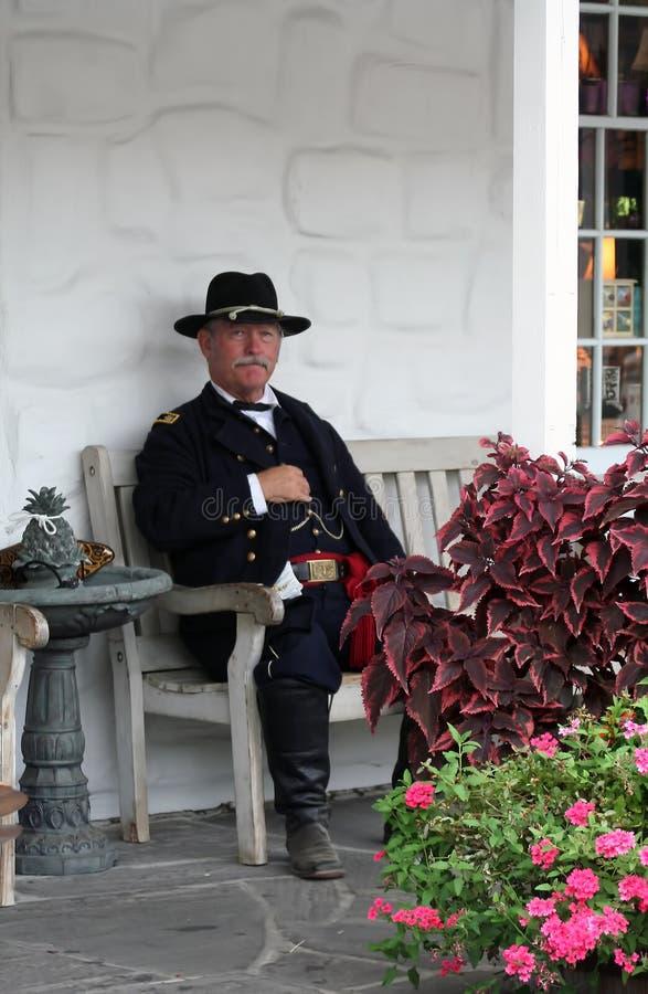 Gettysburg Reenactor royalty-vrije stock foto's