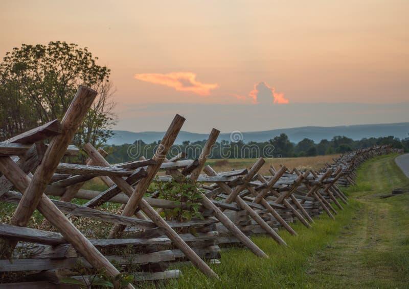Gettysburg staket Line arkivbilder