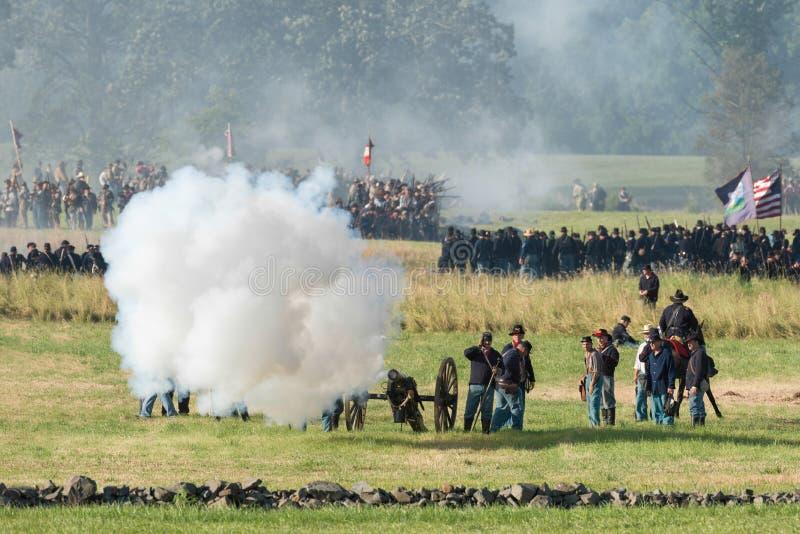 Gettysburgbattle再制定 库存照片