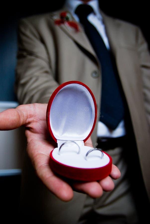 Getuige met ringen stock fotografie