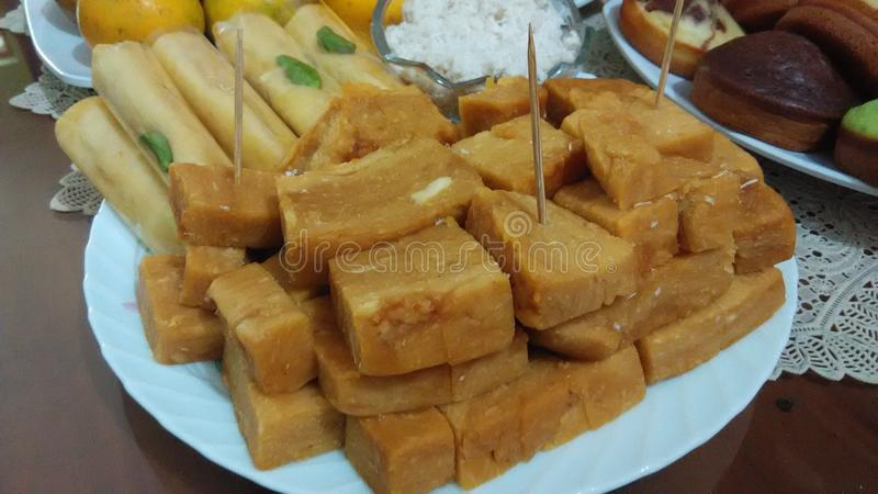 Getuk indonesian traditional food sweet and delicious. Buy in traditional market royalty free stock photos