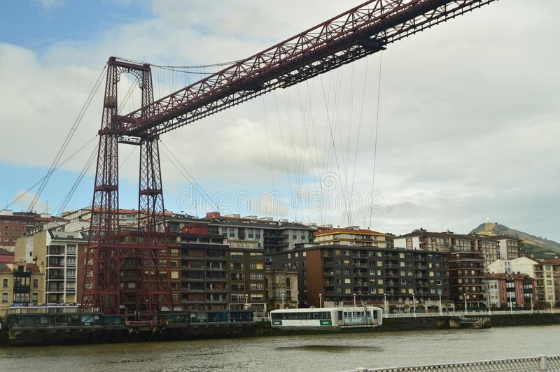 Getxo Bridge Marvelous Architectural Work That Allows Communication Between Getxo and Portugalete. Architecture History Travel. royalty free stock photos
