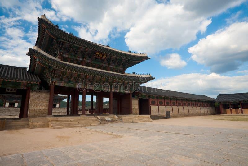Geunjeongmun Gatter Gyeongbokgung lizenzfreies stockbild