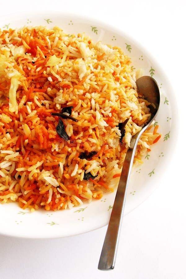 Geurige Indische rijst - bryani stock afbeeldingen