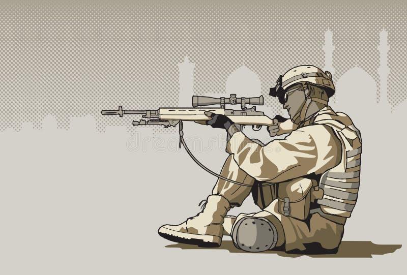 gevärsoldat royaltyfri illustrationer