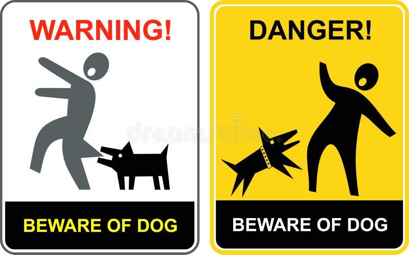 Gevaar! Beware van hond! royalty-vrije illustratie