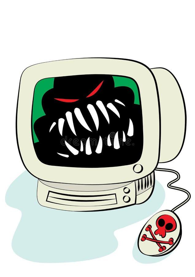 Gevaar van Internet stock illustratie