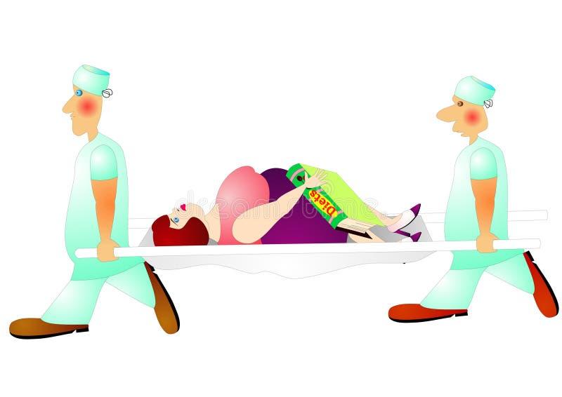 Gevaarlijk dieet royalty-vrije illustratie