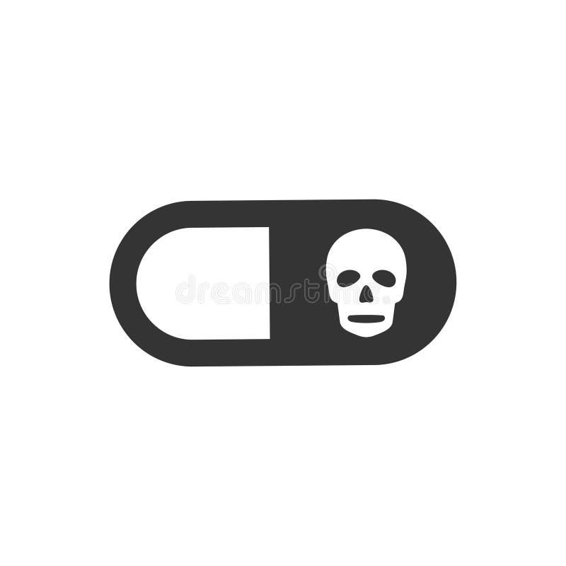 Gevaarlijk Drugspictogram stock illustratie