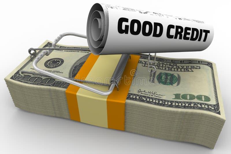 Gevaarlijk krediet royalty-vrije illustratie