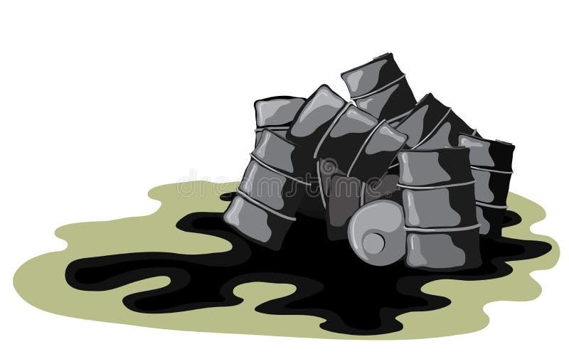 Gevaarlijk lek voor het milieu stock illustratie