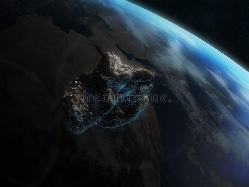 Gevaarlijke asteroïde royalty-vrije illustratie