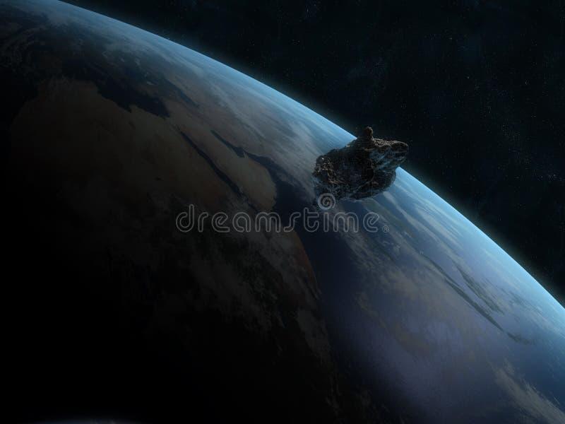 Gevaarlijke asteroïde vector illustratie