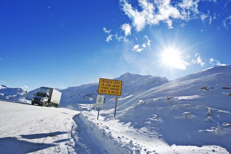 Gevaarlijke de Winterweg royalty-vrije stock foto's