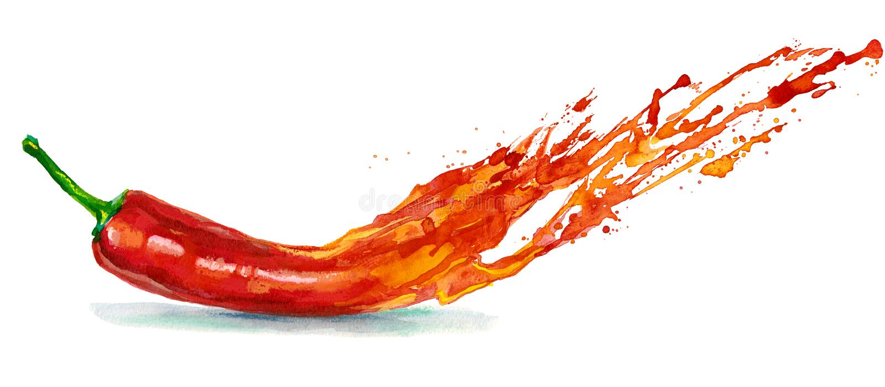 Gevaarlijke peper stock illustratie
