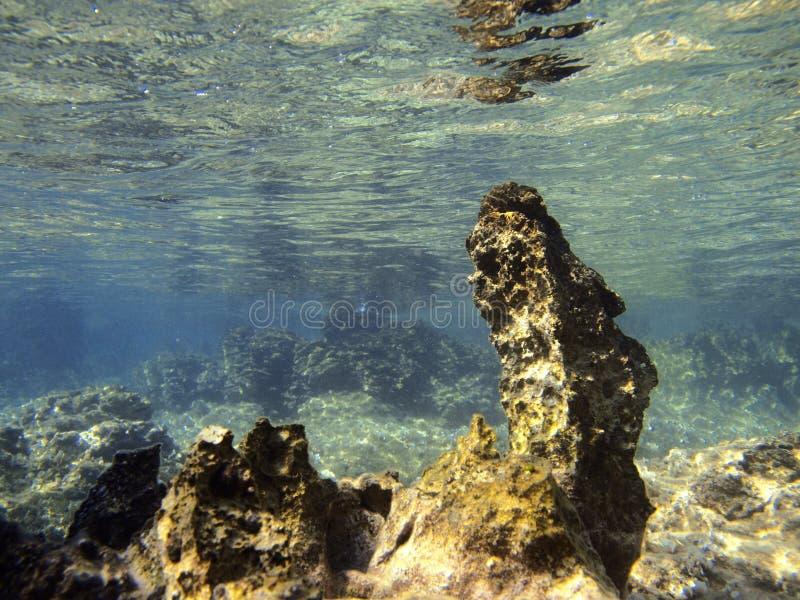 Gevaarlijke rotsen stock afbeelding