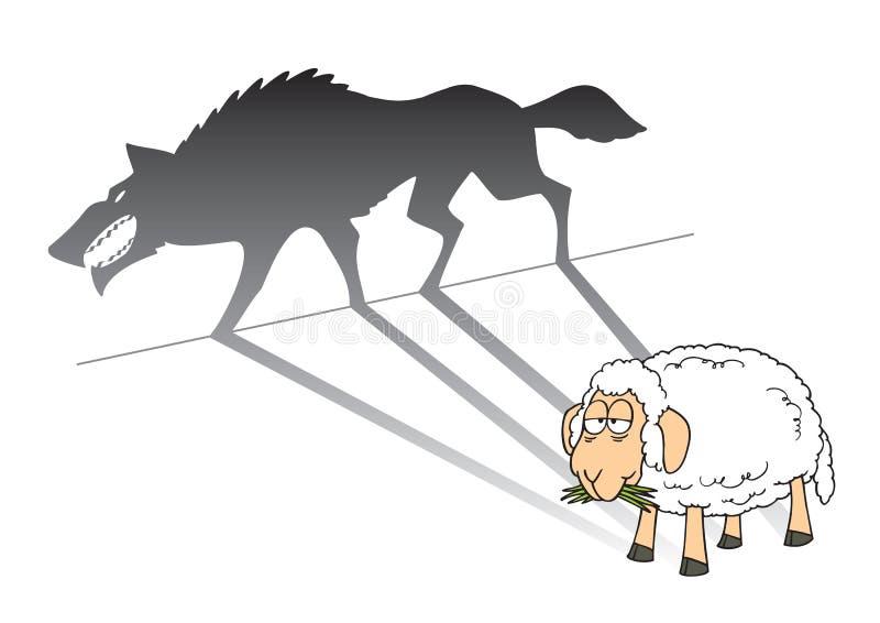 Gevaarlijke schapen stock illustratie