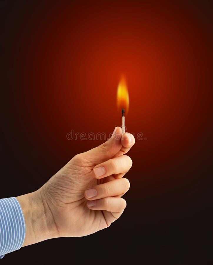 Gevaarlijke vlam stock afbeeldingen