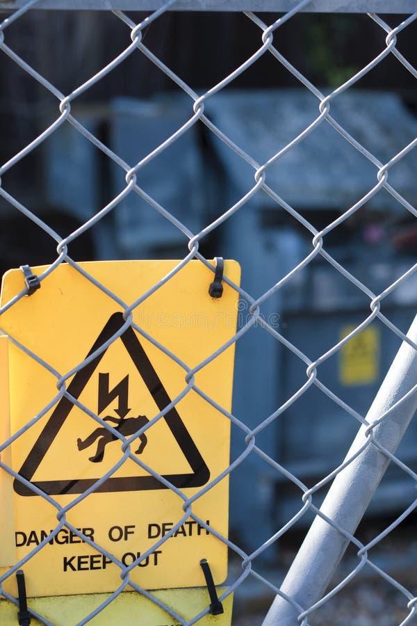 Gevaarselektriciteit royalty-vrije stock foto's