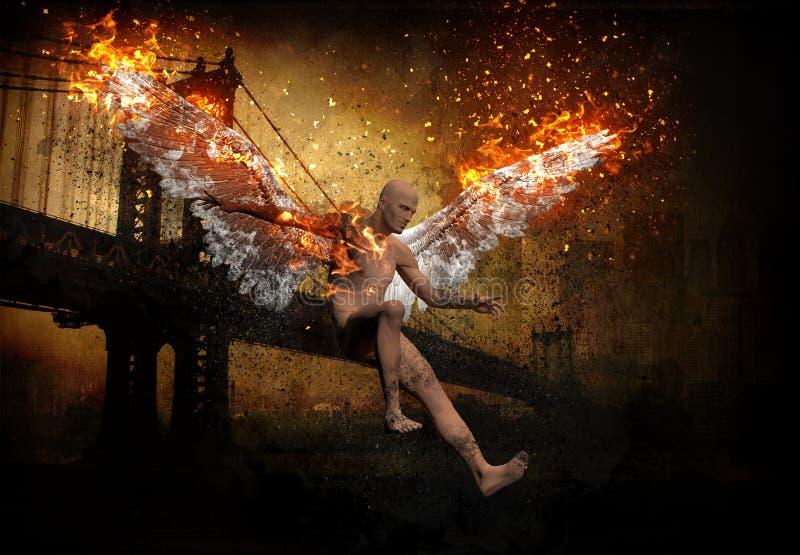Gevallen engel vector illustratie