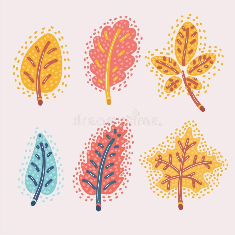 Gevallen geplaatste de herfstbladeren royalty-vrije illustratie