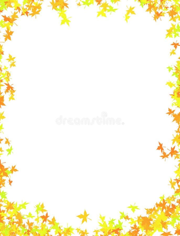 Gevallen verlofframe vector illustratie