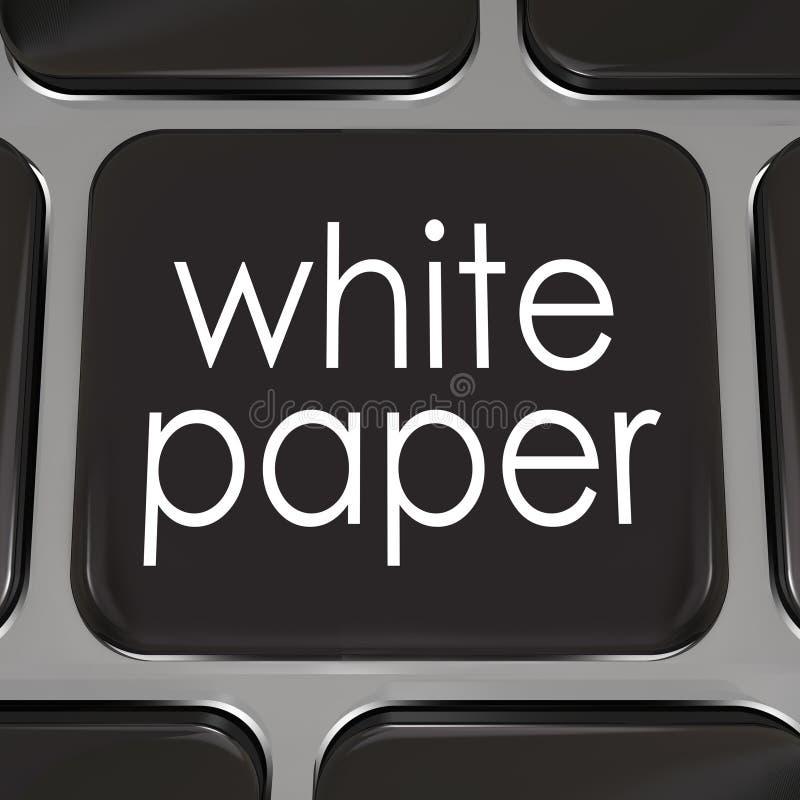 Gevallenanalyse van de de Informatieraad van de Witboekdownload de Online stock illustratie