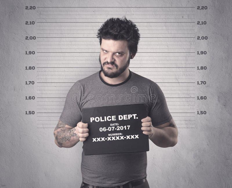 Gevangen overtreder stock foto's