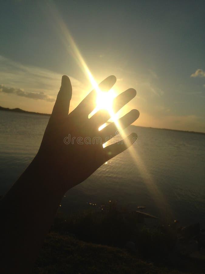 Gevangen zon stock fotografie