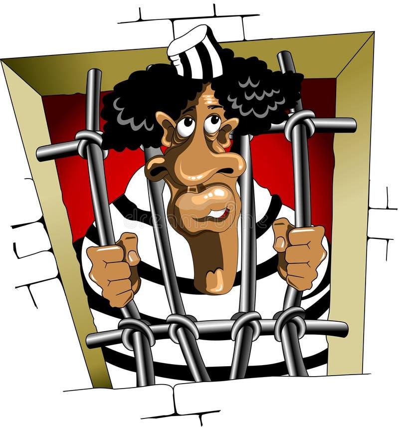 Gevangene stock illustratie