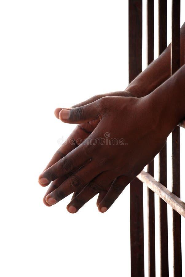 Gevangene stock foto